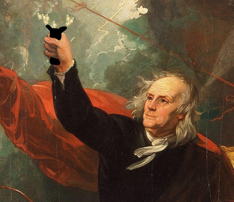 Franklin invented stun gun.jpg